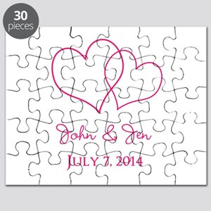 Custom Wedding Favor Puzzle